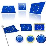 Indicateurs d'Union européenne Illustration Stock