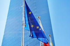 Indicateurs d'Union polonaise et européenne Photographie stock libre de droits