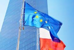 Indicateurs d'Union polonaise et européenne Images libres de droits