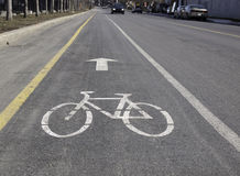 Indicateurs de chemin de vélo Photos stock