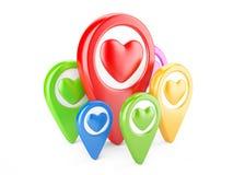 Indicateurs de coeur Images libres de droits