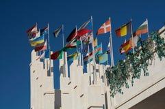 Indicateurs de différents pays Photographie stock libre de droits