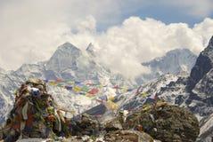 Indicateurs de l'Himalaya de prière Photos libres de droits