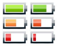 Indicateurs de niveau de batterie Illustration de Vecteur