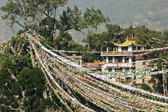 Indicateurs de prière dans Swayambhunath Photos stock