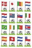 Indicateurs du football illustration de vecteur