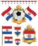 Indicateurs du Paraguay illustration stock
