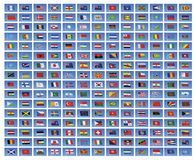 Indicateurs nationaux du monde Image libre de droits