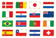 Indicateurs réglés. Coupe du monde du football (groupes G E-F H) illustration stock