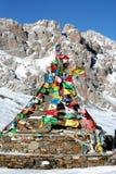 Indicateurs tibétains de prière Images libres de droits