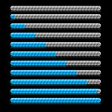 Indication. Blue progress indicators. Vector illustration Royalty Free Stock Image