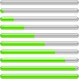 Indication. Green progress indicators. Vector illustration Royalty Free Stock Photos