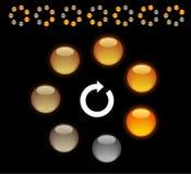 Indication. Circle loading indicators. Vector illustration Royalty Free Stock Images