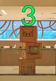 Indication artistique du niveau 3 dans un bâtiment Photographie stock libre de droits