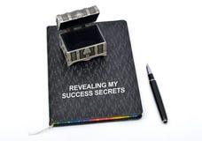 Indication de mon journal intime et stylo de secrets de succès Photos stock
