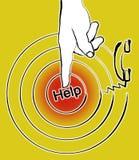 Indication par les doigts à aider Photos stock