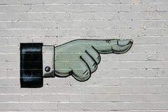 Indication par les doigts Image stock