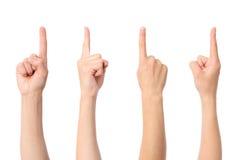 Indication par les doigts de main Images libres de droits