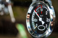 Indicator of espresso pressure in the coffee machine Royalty Free Stock Images