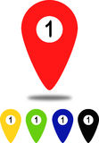Indicator icons for maps vector illustration