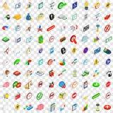 100 indicator icons set, isometric 3d style. 100 indicator icons set in isometric 3d style for any design vector illustration stock illustration
