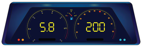 Indicator panel in the car Stock Photos
