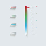 Indicator, Paper Infographics Royalty Free Stock Images