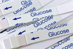 Indicator Strips For Blood Glucose Testing Stock Images