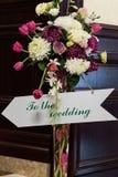 Indicator To the wedding Stock Photography