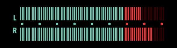 Indicator van muzikale apparatuur Stock Foto's