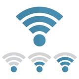 Indicator wifi communication set. Web router computing and telecommunications, maximum broadcast digital free and sharing Stock Photos