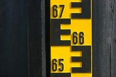Indicatore del livello dell'acqua Fotografia Stock Libera da Diritti