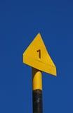 Indicatore del percorso della montagna Fotografia Stock Libera da Diritti