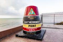 Indicatore del punto più southernmost, Key West, S immagini stock