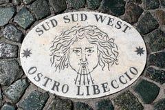 Indicatore del sud del sud del vento da Ovest nel Vaticano Fotografie Stock
