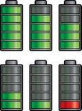 Indicatore della batteria Fotografia Stock
