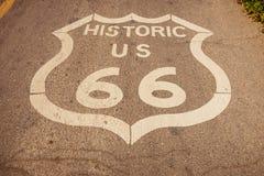 Indicatore della strada principale di Route 66 immagine stock