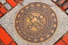 Indicatore della traccia di libertà, Boston Fotografia Stock Libera da Diritti