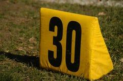 Indicatore della yarda trenta Immagini Stock Libere da Diritti