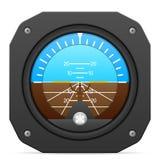 Indicatore di atteggiamento dello strumento di volo royalty illustrazione gratis