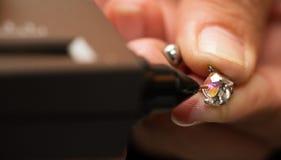 Indicatore di Diamond Tester Gemstone Selector Gem LED immagini stock