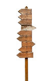 Indicatore di direzione di legno Fotografia Stock Libera da Diritti