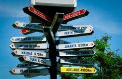 Indicatore di distanza in miglia Fotografie Stock