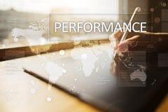 Indicatore di efficacia sullo schermo virtuale Kpi Strategia di crescita di affari fotografia stock