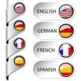 Indicatore di linguaggio per il Web Fotografia Stock
