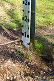 Indicatore di livello del fiume Fotografia Stock Libera da Diritti