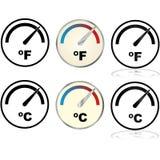 Indicatore di temperatura illustrazione di stock