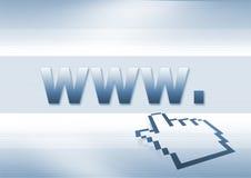 indicatore di WWW Fotografie Stock