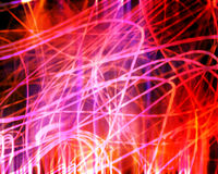 Indicatore luminoso al neon di caos illustrazione di stock