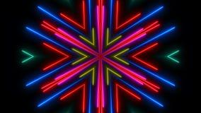 Indicatore luminoso al neon variopinto Contesto astratto di Digital Immagine Stock